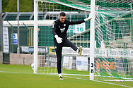 Luke McGee (1) of Forest Green Rovers warming up ahead of the Pre-Season Friendly match between Yeovil Town and Forest Green Rovers at Huish Park, Yeovil, England on 31 July 2021.