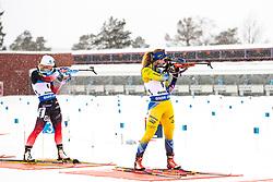 March 10, 2019 - –Stersund, Sweden - 190310 Tiril Eckhoff of Norway and Mona Brorsson of Sweden during the Women's 10 km Pursuit during the IBU World Championships Biathlon on March 10, 2019 in Östersund. 10, 2019 in Östersund..Photo: Johan Axelsson / BILDBYRÃ…N / Cop 245 (Credit Image: © Johan Axelsson/Bildbyran via ZUMA Press)