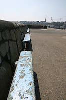 Benches along Dun Laoghaire Pier, County Dublin, Ireland