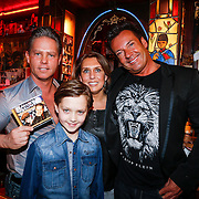 NLD/Amsterdam/20130311 - CD presentatie jubileum cd Danny de Munk, Danny, partner Jenny Sluyter en zoon Davey en Gerard Joling