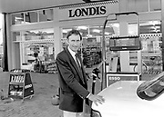 Teddy Bowler after opeing his filling station in Muckross Road, Killarney in 1988<br /> Killarney Now & Then - MacMONAGLE photo archives.<br /> Picture by Don MacMonagle -macmonagle.com
