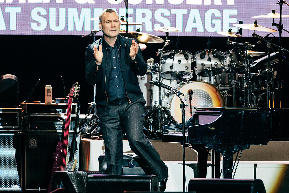 NEW YORK, NY/US - SEPTEMBER 26, 2019: David Gray performs onstage at SummerStage in Central Park as part of the City Parks Foundation 30 Gala & Concert in Manhattan. PHOTO CREDIT: Eric M. Townsend