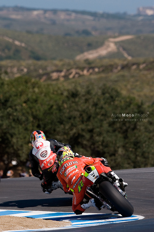 Round 7 of the 2006 AMA Superbike Championship at Laguna Seca, July 21 - July 23, 2006 and Round 11 of the MotoGP World Championship.<br /> <br /> ::Images shown are not post processed::Contact me for the full size file and required file format (tif/jpeg/psd etc) <br /> <br /> ::For anything other than editorial usage, releases are the responsibility of the end user and documentation/proof will be required prior to file delivery.