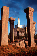 SRI LANKA, ANCIENT CIVILIZATIONS the Ruvaneliseya Dagoba at Anuradhapura, an ancient Buddhist city from the 4thC.BC