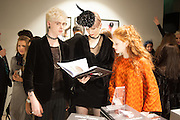 FREDERICK STAFFORD; ALEXIA WIGHT; HELENA BARLOW, Isabella Blow: Fashion Galore! private view, Somerset House. London. 19 November 2013