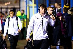 Aaron Hinkley of England U20 arrives at Godlington Road for the Six Nations fixture against Italy U20 - Mandatory by-line: Robbie Stephenson/JMP - 08/03/2019 - RUGBY - Goldington Road - Bedford, England - England U20 v Italy U20 - Six Nations U20