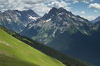Fortress Mountain seen from Miner's Ridge, Glacier Peak Wilderness, North Cascades Washington