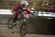 #187 (GARCIA Jared) USA at the 2014 UCI BMX Supercross World Cup in Manchester.
