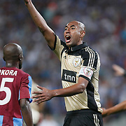 Benfica's LUISAO during their UEFA Champions League third qualifying round, second leg, soccer match Trabzonspor between Benfica at the Ataturk Olimpiyat Stadium at İstanbul Turkey on Wednesday, 03 August 2011. Photo by TURKPIX