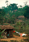 MEXICO, PEOPLE, VILLAGES jungle homes in Chiapas State