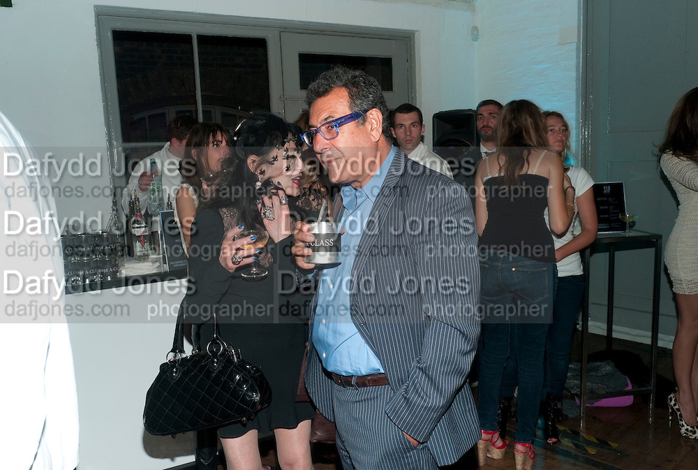 Giles Deacon after-show party. Elm lester painting rooms. Leicester Sq. London. 19 September 2011. <br /> <br />  , -DO NOT ARCHIVE-© Copyright Photograph by Dafydd Jones. 248 Clapham Rd. London SW9 0PZ. Tel 0207 820 0771. www.dafjones.com.