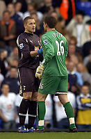 Photo: Olly Greenwood.<br />Tottenham Hotspur v Watford. The Barclays Premiership. 17/03/2007. Tottenham's Paul Robinson consoles Watford's Ben Foster after the game