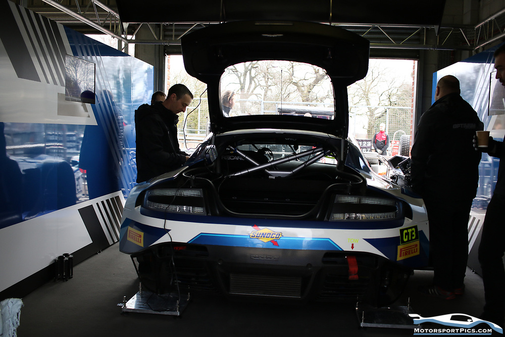 30 March 2018. Pits and Paddock. Oulton Park