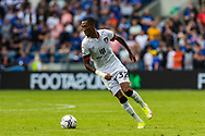 Bournemouth forward Jaidon Anthony  (32) in action during the EFL Sky Bet Championship match between Cardiff City and Bournemouth at the Cardiff City Stadium, Cardiff, Wales on 18 September 2021.