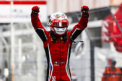 May 26, 2018 - Montecarlo, Monaco - 21 Antonio FUOCO from Italy of CHAROUZ RACING SYSTEM celebrating the victory of Race 2 during the Monaco Formula Two - Race 2 Grand Prix at Monaco on 26th of May, 2018 in Montecarlo, Monaco. (Credit Image: © Xavier Bonilla/NurPhoto via ZUMA Press)