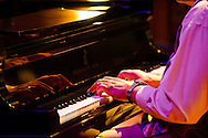 Musician Ellis Marsalis performs at a concert for the Thelonius Monk Institute of Jazz at Loyola University in New Orleans, LA.