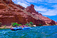 Grand Canyon whitewater rafting trip in Marble Canyon, Glen Canyon National Recreation Area, Colorado River, Arizona USA