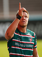 Rugby Union - 2019 / 2020 Gallagher Premiership - Leicester Tigers vs Sale Sharks<br /> <br /> Hanro Liebenbergof Leicester Tigers celebrates at Welford Road.<br /> <br /> COLORSPORT/LYNNE CAMERON