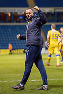 Bristol Rovers manager Graham Coughlan celebrates after winning the match during the EFL Sky Bet League 1 match between Gillingham and Bristol Rovers at the MEMS Priestfield Stadium, Gillingham, England on 12 March 2019.