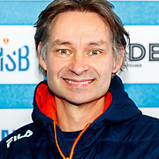 NLD/Amsterdam/20180119 - Inloop premiere Hyena's op het IJs, bondscoach Jeroen Otter