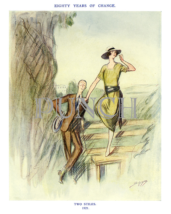 Eighty Years of Change. Two Stiles. 1921.