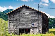 A Barn with a Democratic Donkey on the siding, near Burnsville, North Carolina