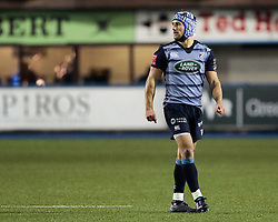 Cardiff Blues' Matthew Morgan<br /> <br /> Photographer Simon King/Replay Images<br /> <br /> Guinness Pro14 Round 9 - Cardiff Blues v Connacht Rugby - Friday 24th November 2017 - Cardiff Arms Park - Cardiff<br /> <br /> World Copyright © 2017 Replay Images. All rights reserved. info@replayimages.co.uk - www.replayimages.co.uk