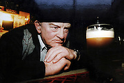 Jackie Healy-Rae in his pub in Kilgarvan in 1996.<br /> Picture by Don MacMonagle<br /> Photo: macmonagle archive