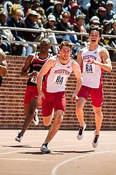 Penn Relays, college mens 4x100 relay, BU, Boston University,