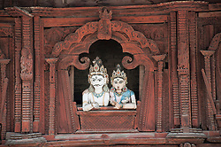 Hindu Temple carvings, close-up, Durbar Square