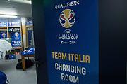 spogliatoi<br /> Nazionale Italiana Maschile Senior - 2019 FIBA Basketball World Cup Qualifiers<br /> Italia Romania - Italy Romania<br /> FIP 2017<br /> Torino, 24/11/2017<br /> Foto M.Ceretti / Ciamillo-Castoria