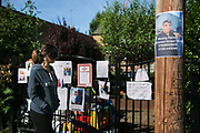 A missing poster for Mohammed Amied Neda on a tree June 16th 2017, London, United Kingdom. Grenfell Tower burned out after a catastophic fire killing more than 58 people. The tower caught fire early Wednesday morning and final casualty figueres may end up to be many more with police not expecting to be able to find and recover all bodies and to find all missing people. No fire sprinkler in place and cheap cladding made with plastic is so far blamed for the ferocious fire.