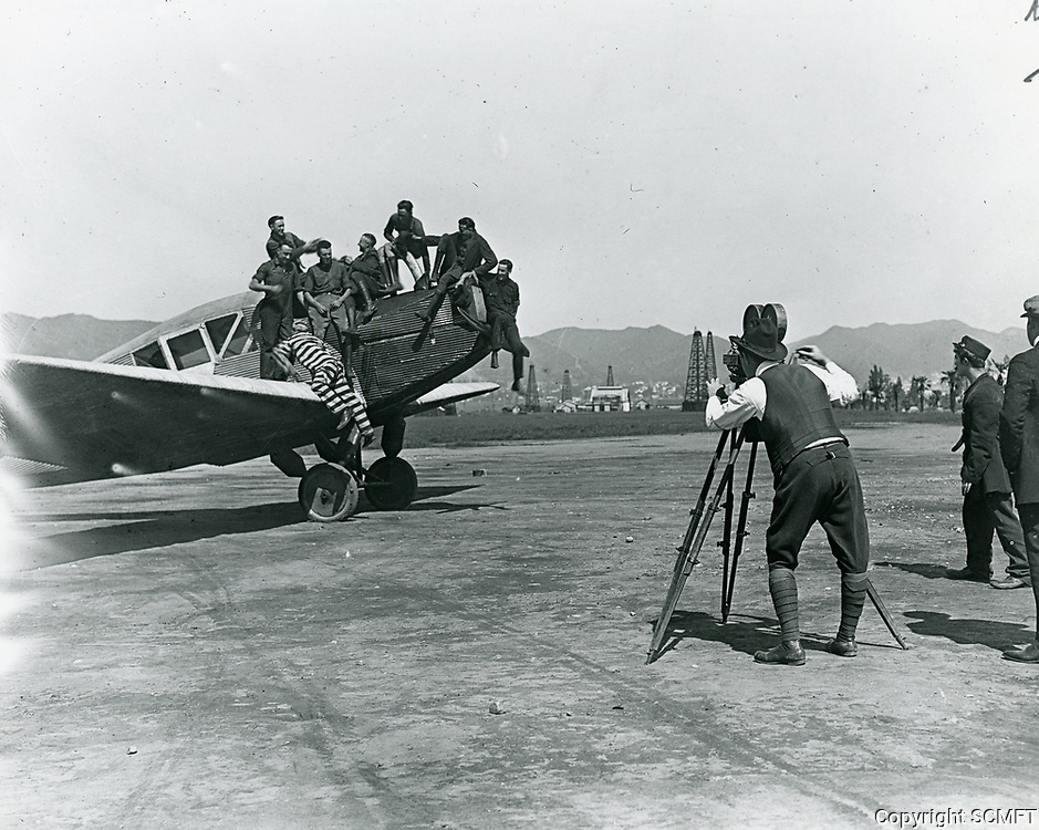 1921 Filming at DeMille Airfield
