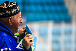The fan of Slovenia during ice hockey match between Slovenia and Lithuania at IIHF World Championship DIV. I Group A Kazakhstan 2019, on May 5, 2019 in Barys Arena, Nur-Sultan, Kazakhstan. Photo by Matic Klansek Velej / Sportida