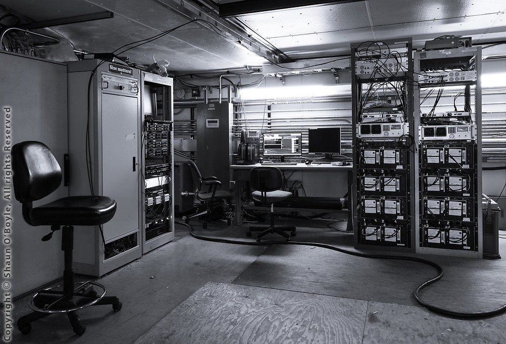 Inside the Dark Sector Lab, computers and control hardware for the South Pole telescope