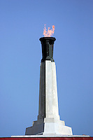 7 October 2006: The Olympic Torch is lit up after halftime during every home game for the  NCAA College Football Pac-10 USC Trojans 26-6 win over the Washington Huskies at the LA Coliseum during a sunny saturday game in Los Angeles, CA.<br />