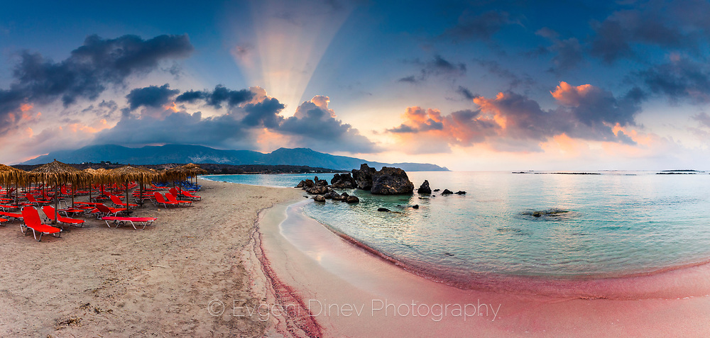 Pink laguna of Elafonissi