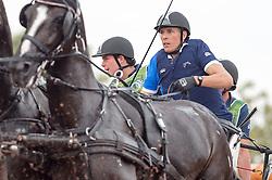 Benjamin Aillaud, (FRA), Bartok, Bicker T, Bly Plains, Colin, Conkalina - Driving Marathon - Alltech FEI World Equestrian Games™ 2014 - Normandy, France.<br /> © Hippo Foto Team - Jon Stroud<br /> 06/09/2014