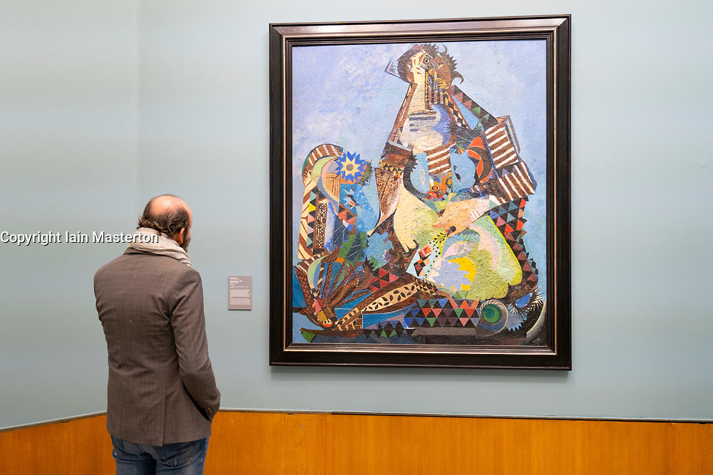 Painting Seated Figure by Eileen Agar at the Museum Boijmans van Beuningen in Rotterdam The Netherlands
