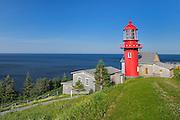 Pointe-de-la-Renommée Lighthouse in Gaspe Peninsula<br /> Pointe-de-la-Renommée <br /> Quebec<br /> Canada
