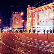 Prague shopping center in Christmas