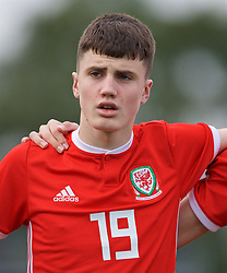 WREXHAM, WALES - Wednesday, October 30, 2019: Wales' Joel Cotterill lines-up before the 2019 Victory Shield match between Wales and Republic of Ireland at Colliers Park. (Pic by David Rawcliffe/Propaganda)