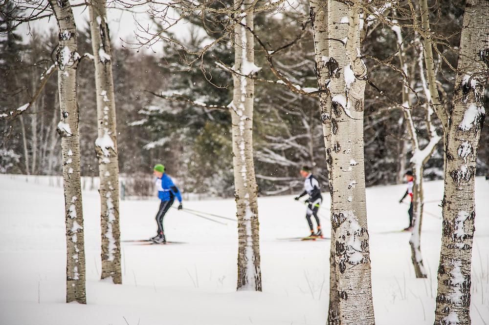 Scenes from the Noquemanon Ski Marathon, Marquette, Michigan.