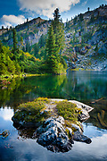 Rampart Lakes area of Alpine Lakes Wilderness, Washington