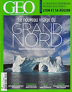 """""""Le Nouvea visage du Grand Nord"""" - my photograph of an iceberg in Nugatsiaq, Greenland, on the cover of the March 2013 GEO France magazine.<br /> <br /> """"Comment la fonte de l'Arctique bouleverse le Monde"""" - """"How the melting Arctic upsets the World"""""""