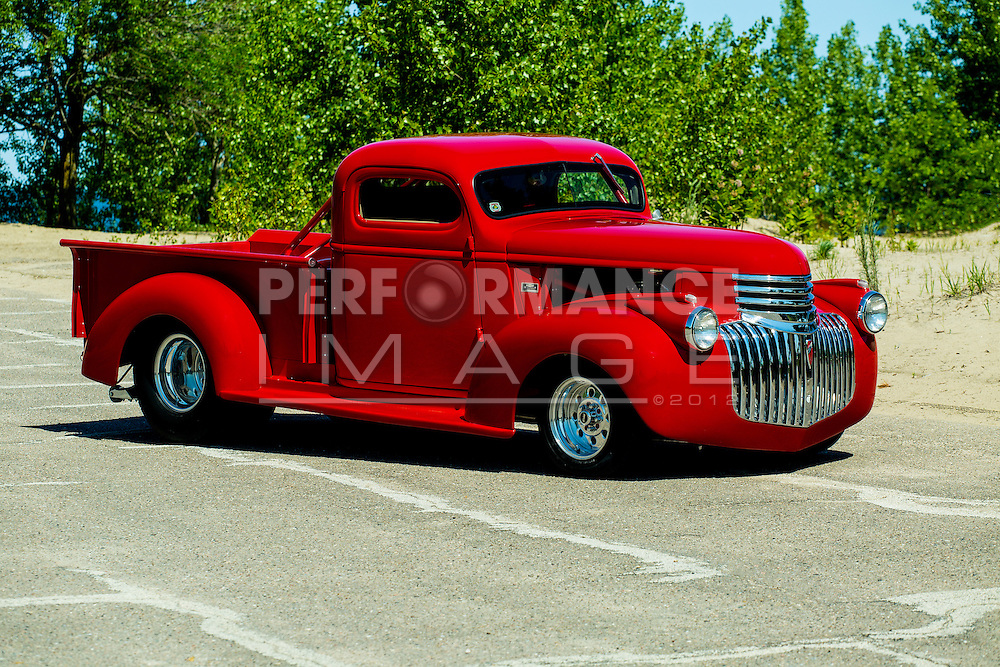 1941 Custom Chevrolet Pickup Truck on pavement