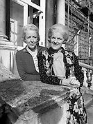 Senator Tras Honan and Deputy Carrie Acheson, the only sisters ever to have been elected to the Oireachtas. Senator Tras Honan (left) was elected to the Administrative Panel of the Seanad in 1977, and re-elected in 1981. Carrie Acheson, Alderman of Clonmel Corporation, was elected to the Dáil for the first time in June.<br /> 21 October 1981