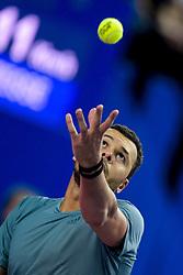 February 9, 2019 - Montpellier, France, FRANCE - Jo Wilfried Tsonga  (Credit Image: © Panoramic via ZUMA Press)