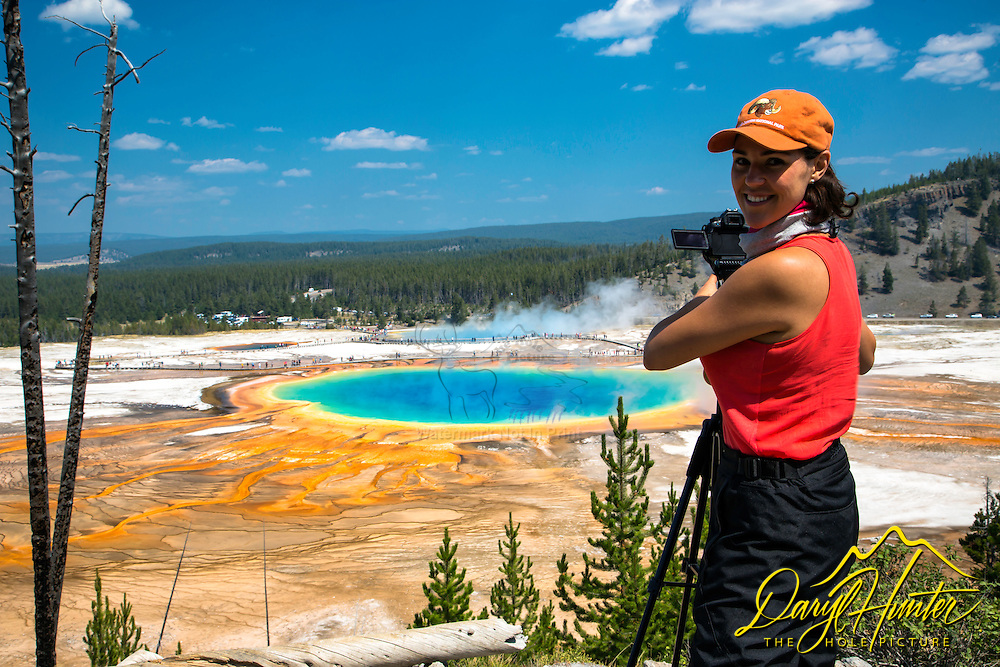 Photographer, Grand Prismatic Spring, Yellowstone National Park