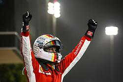 April 8, 2018 - Sakhir, Bahrain - VETTEL Sebastian (ger), Scuderia Ferrari SF71H, celebrating victory during 2018 Formula 1 FIA world championship, Bahrain Grand Prix, (Credit Image: © Hoch Zwei via ZUMA Wire)